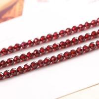 Natürlicher Granat Perlen, poliert, DIY & verschiedene Größen vorhanden & facettierte, rot, verkauft per ca. 15 ZollInch Strang