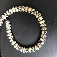 Dalmatiner Perle, poliert, DIY & verschiedene Größen vorhanden, weiß und schwarz, verkauft per ca. 15 ZollInch Strang