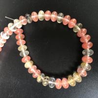 Wassermelone Perle, poliert, DIY & verschiedene Größen vorhanden, farbenfroh, verkauft per ca. 15 ZollInch Strang