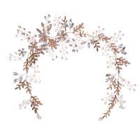 Braut Haar Blumen, Zinklegierung, plattiert, für Frau & mit Strass, keine, frei von Nickel, Blei & Kadmium, 365mm, verkauft von PC