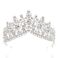 Krone, Zinklegierung, plattiert, für Braut & mit Strass, keine, frei von Nickel, Blei & Kadmium, 160mm,65mm, verkauft von PC