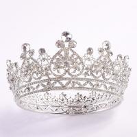 Krone, Zinklegierung, plattiert, für Braut & mit Strass, keine, frei von Nickel, Blei & Kadmium, 135mm,70mm, verkauft von PC
