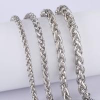 Messingkette Halskette, Messing, plattiert, verschiedene Größen vorhanden & Seil-Kette & für Frau, frei von Nickel, Blei & Kadmium, verkauft per ca. 19.6 ZollInch Strang
