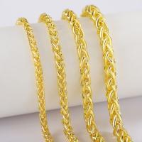 Messingkette Halskette, Messing, plattiert, verschiedene Größen vorhanden & Seil-Kette & für den Menschen, frei von Nickel, Blei & Kadmium, verkauft per ca. 19.6 ZollInch Strang
