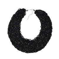 Seedbead Halskette, mit Zinklegierung, silberfarben plattiert, für Frau, keine, 480mm, verkauft per ca. 18.8 ZollInch Strang