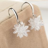 925er Sterling Silber Tropfen Ohrring, versilbert, für Frau & mit kubischem Zirkonia, keine, 13x23mm, verkauft von Paar