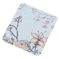 Papier Quadrat, mit Blumenmuster, blau, 45x50mm, verkauft von setzen