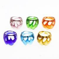 Lampwork Fingerring, unisex & Goldsand, gemischte Farben, 27x24mm, Größe:9.5, 12PCs/Box, verkauft von Box