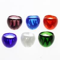 Lampwork Fingerring, unisex & innen Twist, gemischte Farben, 28x25mm, Größe:10.5, 12PCs/Box, verkauft von Box