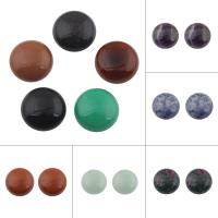Edelstein Cabochons, flache Runde, verschiedenen Materialien für die Wahl, keine, 20x7mm, 10PCs/Tasche, verkauft von Tasche
