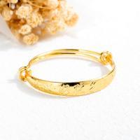 Messing Armband, plattiert, für Kinder, goldfarben, frei von Nickel, Blei & Kadmium, 7mm, Länge:ca. 5 ZollInch, verkauft von PC
