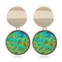 Zinklegierung Ohrringe, mit Pailletten, goldfarben plattiert, für Frau, keine, frei von Nickel, Blei & Kadmium, 24x47mm, verkauft von Paar