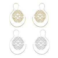 Zinklegierung Ohrring, plattiert, für Frau, keine, frei von Nickel, Blei & Kadmium, 45x65mm, verkauft von Paar