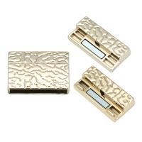 Zinklegierung Magnetverschluss, plattiert, goldfarben, frei von Blei & Kadmium, Innendurchmesser:ca. 30mm, 5PCs/Tasche, verkauft von Tasche