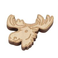 Holz Cabochon, Tier, Kunstdruck, beige, 29x22x5mm, ca. 1000PCs/Tasche, verkauft von Tasche