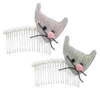 Dekoratives Haarkämmchen, Eisen, mit Stoff, silberfarben plattiert, für Frau, keine, frei von Nickel, Blei & Kadmium, 100*80*20mm, verkauft von PC