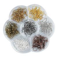Eisen Ohrhaken, plattiert, DIY, gemischte Farben, 140PCs/Box, verkauft von Box