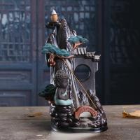 Porcelain Backflow Incense Burner, Porzellan, Halbhandgefertigt, poliert, braun, 155x125x250mm, verkauft von PC
