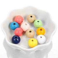 Holzperlen, Holz, verschiedene Größen vorhanden, gemischte Farben, Bohrung:ca. 1mm, 10Taschen/Menge, 50PCs/Tasche, verkauft von Menge