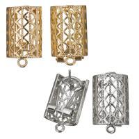 Zinklegierung Ohrring-Bolzen -Komponente, plattiert, mit Schleife, keine, frei von Nickel, Blei & Kadmium, 13x22x17mm, Bohrung:ca. 2mm, ca. 10PaarePärchen/Menge, verkauft von Menge