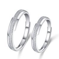 925er Sterling Silber Paar- Ring, Kreisring, versilbert, einstellbar & verschiedene Stile für Wahl, 1.6mm, 3.3mm, 3mm, Größe:6-11, verkauft von PC