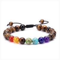 Edelstein Woven Ball Armbänder, verschiedenen Materialien für die Wahl & unisex & einstellbar, 8mm, Länge:7-11.6 ZollInch, verkauft von PC