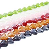Innerer Twist Lampwork Perlen, Herz, innen Twist, 9x12x11mm, Bohrung:ca. 1mm, ca. 100PCs/Tasche, verkauft von Tasche