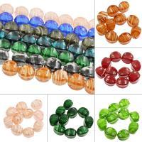 Innerer Twist Lampwork Perlen, oval, innen Twist, keine, 17x25mm, Bohrung:ca. 2mm, ca. 100PCs/Tasche, verkauft von Tasche