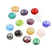 Innerer Twist Lampwork Perlen, flache Runde, verschiedene Größen vorhanden & innen Twist, Bohrung:ca. 1mm, ca. 100PCs/Tasche, verkauft von Tasche