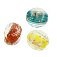 Goldsand Lampwork Perlen, 18x24x17mm, Bohrung:ca. 1mm, ca. 100PCs/Tasche, verkauft von Tasche