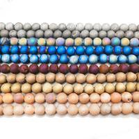 Laugh Rift Achat Perle, poliert, verschiedene Größen vorhanden & satiniert, Bohrung:ca. 1mm, verkauft von Strang