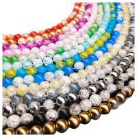 Knistern Quarz Perlen, poliert, verschiedene Größen vorhanden & zweifarbig, keine, Bohrung:ca. 1mm, verkauft von Strang