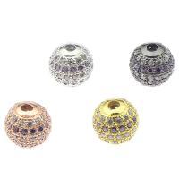 Strass Messing Perlen, plattiert, mit Strass, keine, frei von Nickel, Blei & Kadmium, 10x10mm, Bohrung:ca. 2mm, verkauft von PC