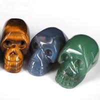 Edelstein Schädel, geschnitzt, gemischte Farben, 36x4mm, 12PCs/Box, verkauft von Box