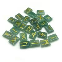 Grüner Aventurin Dekoration, geschnitzt, gemischtes Muster, 15x20mm, 25PCs/Menge, verkauft von Menge