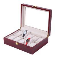Uhr Schmuckkasten, Holz, Rechteck, dattelrot, 265x202x80mm, verkauft von PC