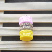 Harz Anhänger, Macaron, handgemacht, Volltonfarbe, keine, 22*40mm, 10PCs/Tasche, verkauft von Tasche