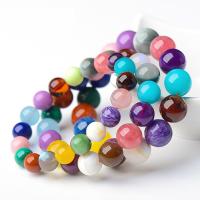 Quarz Armbänder, Natürlicher Quarz, rund, unisex & verschiedene Größen vorhanden, farbenfroh, verkauft von Strang