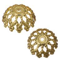 Edelstahl Perle Kappe, Hohe Qualität überzogen und verblassen nie, Goldfarbe, frei von Nickel, Blei & Kadmium, 8x3.50mm, Bohrung:ca. 0.5mm, ca. 1500PCs/Menge, verkauft von Menge