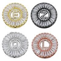 Messing Diacharme, verschiedene Stile für Wahl & Micro pave Zirkonia, keine, frei von Nickel, Blei & Kadmium, 20x20x5mm, Bohrung:ca. 1.5x6.5mm, 10PCs/Menge, verkauft von Menge