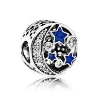 Zinklegierung Schieber Perlen, silberfarben plattiert, Emaille & mit Strass, frei von Nickel, Blei & Kadmium, 11.6*11.9mm, Bohrung:ca. 4mm, 20PCs/Menge, verkauft von Menge