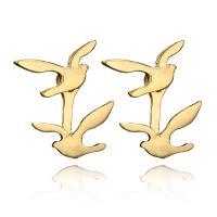 Zinklegierung Cartoon-Split-Ohrring, Vogel, plattiert, für Frau, keine, frei von Nickel, Blei & Kadmium, 19x17mm, verkauft von setzen