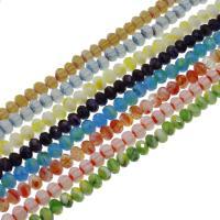Kristall-Perlen, Kristall, bunte Farbe plattiert, verschiedene Größen vorhanden & facettierte, mehrere Farben vorhanden, 72PCs/Strang, verkauft per ca. 16.53-19.68 ZollInch Strang