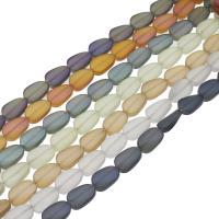 Kristall-Perlen, Kristall, bunte Farbe plattiert, satiniert, mehrere Farben vorhanden, 9x14x5mm, Länge:ca. 26.92 ZollInch, 50PCs/Menge, verkauft von Menge