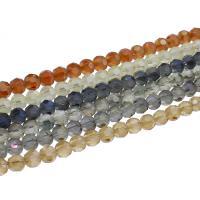 Kristall-Perlen, Kristall, bunte Farbe plattiert, facettierte, mehrere Farben vorhanden, 8x8mm, 72PCs/Strang, verkauft per ca. 22.83 ZollInch Strang