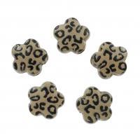Acryl Blume, braun, 15x8mm, Bohrung:ca. 4mm, 500PCs/Tasche, verkauft von Tasche