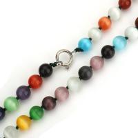 Handgewickelte Perlen, Lampwork, rund, gemischte Farben, 10mm, verkauft per ca. 18 ZollInch Strang