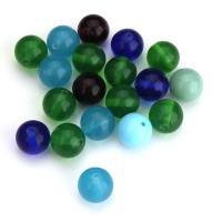 Handgewickelte Perlen, Lampwork, rund, gemischte Farben, 12mm, Bohrung:ca. 1.5mm, ca. 50PCs/Menge, verkauft von Menge