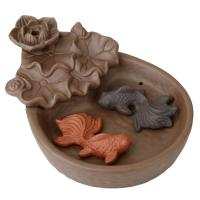 Porcelain Backflow Incense Burner, Lila Sand, 107x150x65mm, verkauft von PC