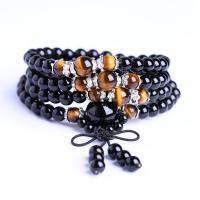 Obsidian Armband, verschiedene Stile für Wahl & Strahlenschutz & für paar, frei von Nickel, Blei & Kadmium, 6mm,8mm, verkauft von Strang